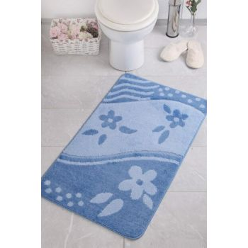 Bandirma 60X100 Blue Bathroom Carpet CONMM8670318075070