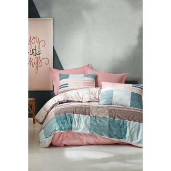 Ranforce Double Duvet Cover - Eva Powder 1176459043052