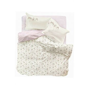 Nelya Pink Rnf Double Duvet Cover and Pillowcase Set 201.15.01.0038