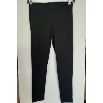 Women's Black Fleece Disco Shiny Leggings 111113500010