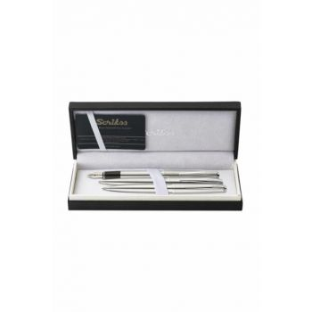 Metropolis 78M Fountain Pen, Ballpoint Pen, Mechanical Pencil Triple Set Chrome U134568