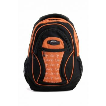 Black Orange Unisex School Bag csspack50003turner