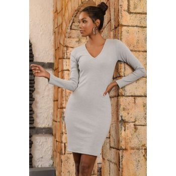 Women's Grimelanj V Neck Sweater Dress ALC-015-297-SE
