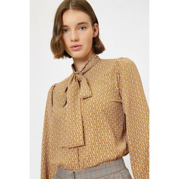Women's Yellow Patterned Shirt 0KAK68193PW