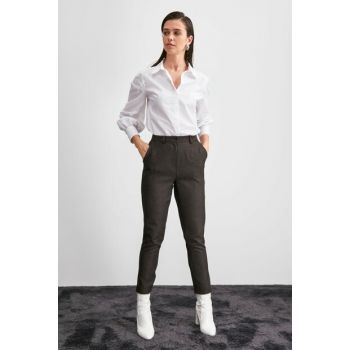 Black Basic Trousers TWOAW20PL0631