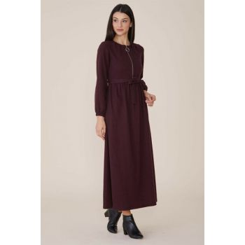 Women Burgundy Dress Nassah-MPU-9W5880