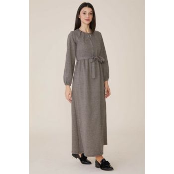 Women's Brown Dress Nassah-MPU-9W5880