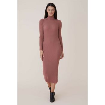 Women Rose Dried Sweater Dress Nassah-UAF-9W3189