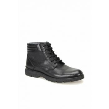 Men's Genuine Leather Black Boots 000000000100343283