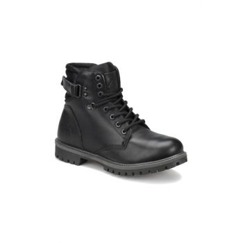 Genuine Leather Men Boots & Bootie - SALVADOR Black Men Leather Boots-000000000100266006