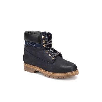Genuine Leather Men Boots & Bootie - JORDAN Navy Blue Men Boots-000000000100285782