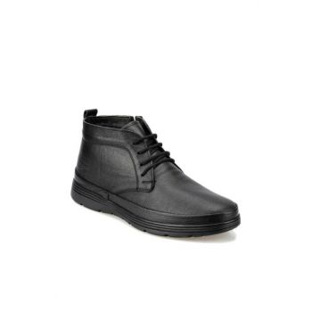 Genuine Leather Black Men Boots 92.100621.M