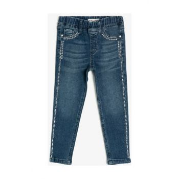 Blue Kid Tas Detailed Jean Trousers 0KKG47017OD