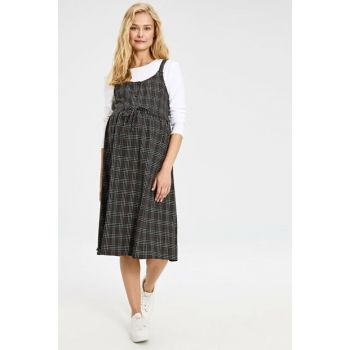 Women's Anthracite Plaid Dress 9WI112Z8