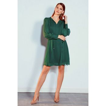 Women's Medium Green Dress 9WQ936Z8