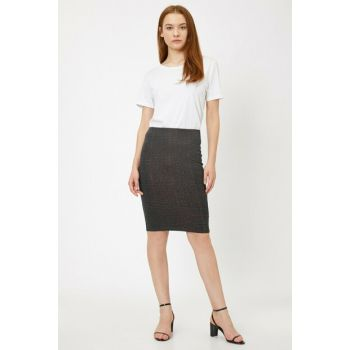 Women's Gray Plaid Skirt 0KAK76678IK