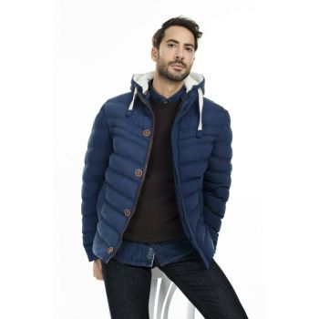 Slim Fit Hooded Coat MEN MONT 55618K5071