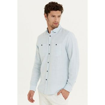 Men's Blue Shirt 9WL610Z8