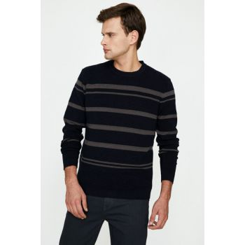 Men's Navy Blue Pullover 9KAM91289LT