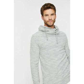 Men's Ecru High Neck Sweater 0KAM91329NK