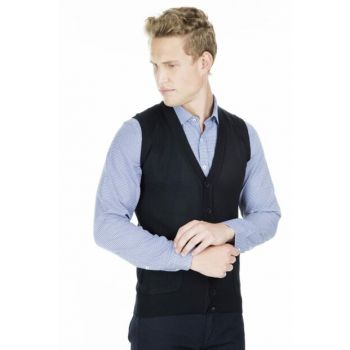 Men's Light Blue Vest - 1518Duzye