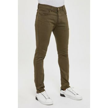 Khaki Men's 5 Pocket Skinny Pants New TMNAW20PL0627