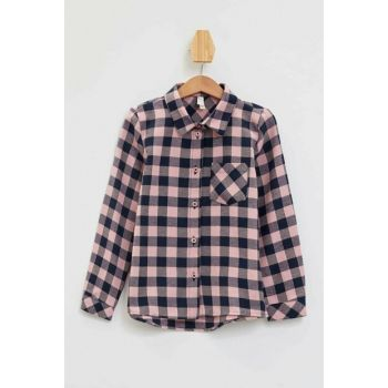Single Pocket Check Plaid Long Sleeve Shirt M3402A6.19AU.PN243