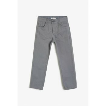 Gray Kids Trousers 0KKB46695TW