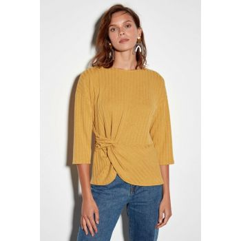 Women's Dark Yellow T-shirt 9WS304Z8