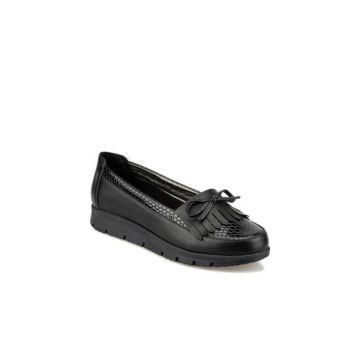 Black Women's Loafer Shoes 92.158010.Z