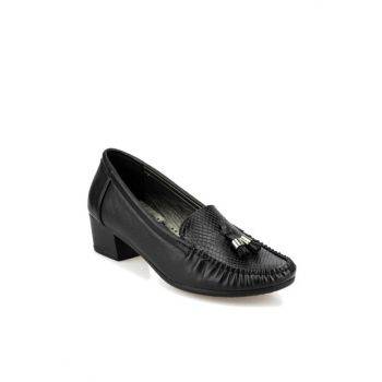 Black Women's Loafer Shoes 92.151058.Z