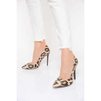 Leopard Women High Heels Shoes 18Y 708