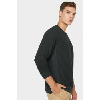 Men's Gray Crew Neck T-Shirt 0KAM14027OK