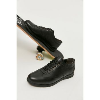 Genuine Leather Black Men Classic Shoes 02AYY163380A100