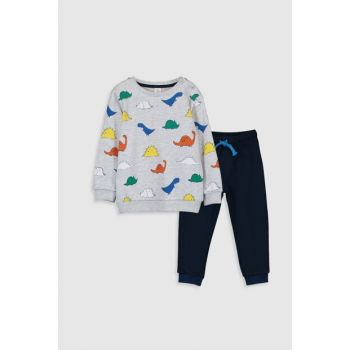 Baby Boy Navy Blue Printed Lsj Suit 9WG896Z1
