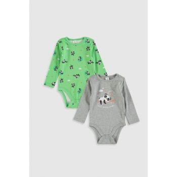 Baby Boy Gray Melange Ct3 Snap On Body 2PCS 9WK500Z1
