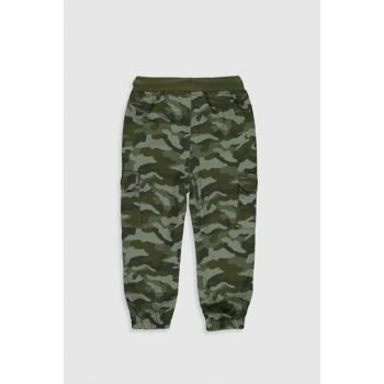 Baby Boy Medium Green Print Lrn Pants 9W6719Z1