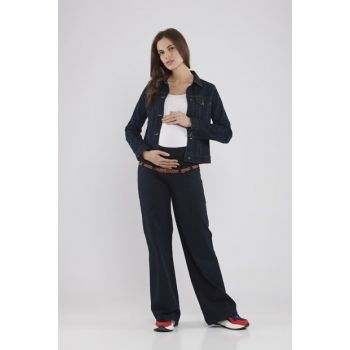 Maternity Trousers - Navy Blue M2096