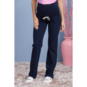 Pregnant Navy Blue Trousers Navy Blue Ty3392 TY3392