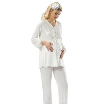 Women's White Lohusa Pajama Set nil1604gym