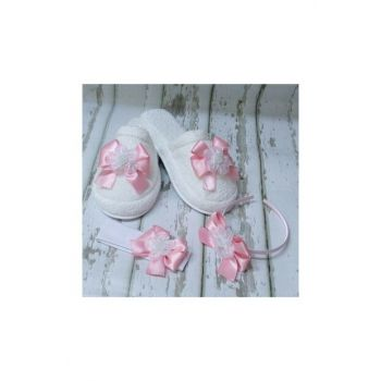 Lohusa Slipper And Crown Set With Bow Pink PRA-554149-858244