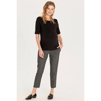 Women Anthracite Printed Lq9 Maternity Clothing Pants 9W7764Z8