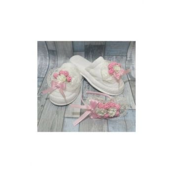 Lohusa Crown and Lohusa Slipper Guipure Pink PRA-552415-850288