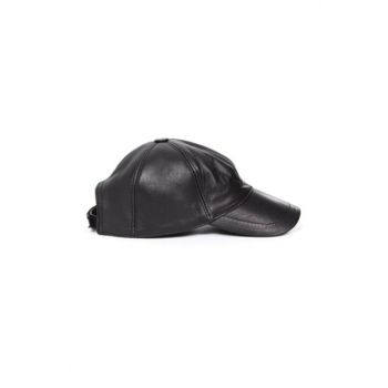 Black Leather Hat CDHKUV56