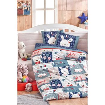 Ranforce Baby Duvet Cover Set Snoopy Navy 33044