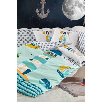 Ranforce Baby Duvet Cover Set Baby Sailor Green 33048