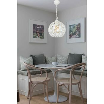Wonderful Single Kt White Transparent Chandelier 901 0883 27 016
