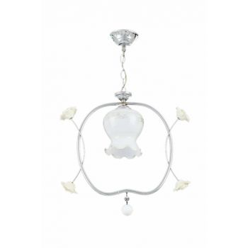 Single Suspension Light - Chrome / White 7985-1P
