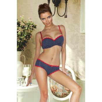 Half Filled Guipure Bra Set 148-006950