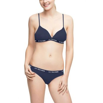 Women's Navy Blue Underwire Bra Set US 01.66118